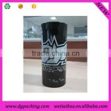 black plastic T-shirt tube,stable apparel packaging tube with custom design                                                                         Quality Choice