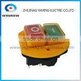 Ignition Momentary Press Push Button Switch YCZ3-B Emergency stop 5 Pin IP55 On Off Red Green sign wiring brass feet