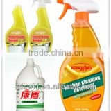 Oil kitchen cleaning agent with spray