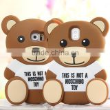 For iphone 4s/5/5s/6/6plus silicone cover cartoon toy case 3D teddy bear phone case phone cover for Samsung Galaxy                                                                         Quality Choice