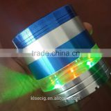 2016 New fashion Super texture 5 parts LED electric herb grinder