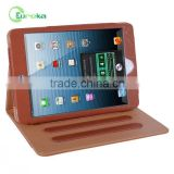 Folio PU wallet tablet leather cases with good quality and Competitive price for Ipad mini retina/ipad mini2