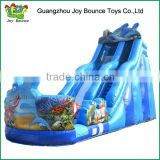 giant inflatable water slide for adult,ocean shark inflatable slide for sale