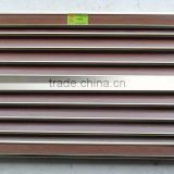 Wooden color 1.4mm thickness aluminum window louver