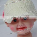 2012 New !100% cotton crochet baby visor hats,handmade crochet baby girl beanie hat,knitted hat patterns for girls