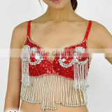 SWEGAL SGBDB1305011color red women 2013fashion lady women belly dance sexy bra