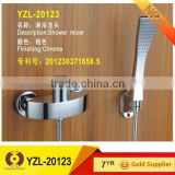 Bathroom fitting shower bath faucet with hand shower head and stainless hose (YZL-20123)