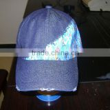 jean baseball cap with hot transfer printing