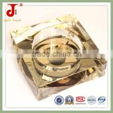 Europe Cube Gold Color Antique Glass Decorative Outdoor Ashtray For Home Office Decoration