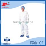 ISO factory made low price 55g Non-woven PP protective reflective safety coverall with CE FDA approval