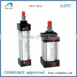 China SC Series telescopic cylinder, aluminium pneumatic cylinder, compact air cylinder,hot sell cheap price