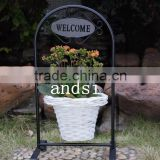 Indoor metal wire flower pot plant stand