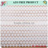 High quality white circular pattern ornament of chinese style embroidery fabric for wedding dress