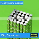 D4x6mm industrial magnet Neodymium magnetic disc