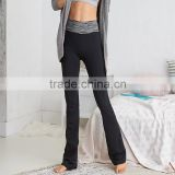 newly design comfortable boot cut pants leggings in black for ladies pants