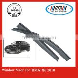 auto door visor FOR BMW X6 X series 2010 window visor deflector PMMA material made in China