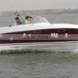 hot sale 23ft fiberglass sport cruiser boat,fishing boat