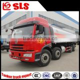 China brand new FAW 8*4 chemical liquid tanker truck, oil tank truck, fuel truck for sale