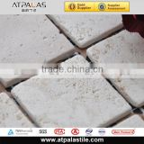 pure white natural marble stone mosaic tiles for backsplash