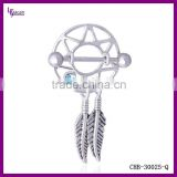 Wholesale Stainless Steel Dream Catcher Slave Nipple Ring