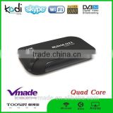 hybrid ott dvb s2 amlogic s805 Android smart tv box 1G RAM +8GB ROM H.265 Android4.4 tv box