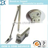 Aluminum alloy hydraulic door closer type sliding door closer with hold open arm