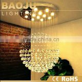 lustres de cristal pendant light led top k9 crystal round ball light