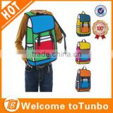 3D Jump Style 2D Drawing From Cartoon Paper Bag Comic 3D Messenger Bag school bag Wholesale