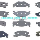 Brake pad steel back plate