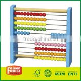 Wood Abacus with Colored Beads