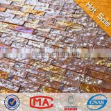 2L glazed glass mosaic hot sale mosaic tile yellow strip iridescent glass mosaic cheap vitrified tiles price in india wall tiles