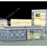2016 newest manufacture kiosk for jewelry accessories / wooden display showcase