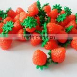Mini Strawberry Cabochons Kawaii Fruit Cabochon Fake Fruit Dollhouse Miniature Sweets Decoden Cell Phone