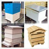 Bee keeping deep box 1 or 2 layer WBC Dadant Langstroth British beehive with 10 or 20 frames pine or fir wood