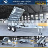10x6ft Hot Dipped Galvanized Heavy Duty Hydraulic Tipping Tandem Trailer With Steel Cage