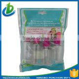 Small plane travel bottle set mini bottle