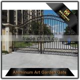 Garden Decoration Powder Coated Cast Aluminum Driveway Gate
