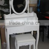 Home Furniture Dressing Table Set, Bedroom Dresser with Mirror and Bench, Wooden make up Table Set