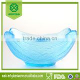 hot sale mini colorful glass bowl charger plates