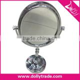 Wholesale Decorate Oval Plastic Frame Cosmetic Silver Table Mirror