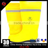 CE waterproof rain boot/shoe covers pvc long safety steel toe boots with relative tape sale