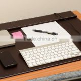 Computer desk pad-stylish mat cover provides perfect writing surface- made of leather for mouse and keyboard