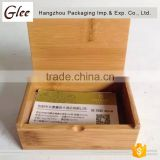 Multi-functional simple bamboo card box/holder