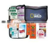 Beach Kit - has lip balm, sunscreen, bandages, tissue packet, antiseptic swabs and comes with your logo