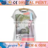 OEM Knitted Digital Print Bamboo Cotton T-Shirt