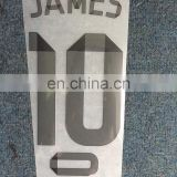 14/15 wholesale name and number stickers on soccer jerseys film t-shirt heat transfer sticker jersey numbers and letter
