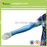 Hot promotion newest fashion design arm sleeves full dye sublimation elastic fabric 95% polyester 5% spandex