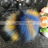 Cheap Price Dyed Color For Charm Rabbit Pompom Fox Pom Bag Hanger Faux Fur Ball Keychain