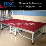 1.22 x 2.44 M Red Carpet Aluminum Folddable Portable Stage