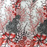 Chinese style embroidered tulle lace fabric for dress